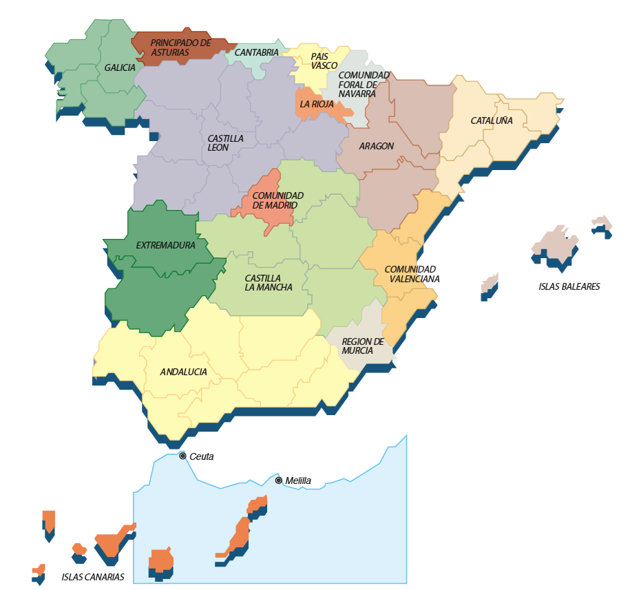 Mapa de Provincias